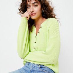 Ribbed Henley Sweater   LOFT