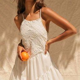 Imagination Cream Eyelet Lace Mini Dress | Lulus (US)