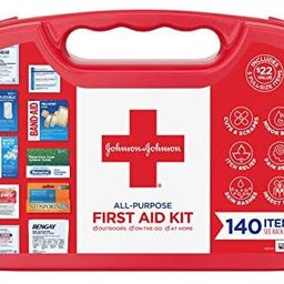 Johnson & Johnson All-Purpose First Aid Kit, Portable Compact First Aid Set for Minor Cuts, Scrap... | Amazon (US)