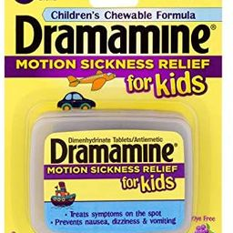 Dramamine Motion Sickness Relief for Kids | Chewable Grape | 8 Count | Amazon (US)