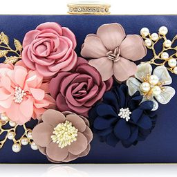 Milisente Evening Bag for Women, Flower Wedding Evening Clutch Purse Bride Floral Clutch Bag | Amazon (US)