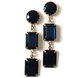 Blue Navy Chandelier earrings, Long Blue Navy Earrings, Bridal Earrings, Blue Statement earrings,... | Etsy (US)