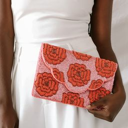 Hand-Picked Pink and Red Beaded Clutch | Lulus (US)