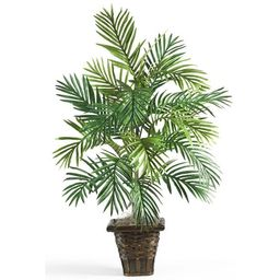 3.1ft Artificial Areca Palm with Wicker Basket - Nearly Natural | Target