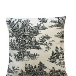Toile Pillow Cover, Black/White Toile, French countryside decor, French, French Cottage Decor, 18...   Etsy (US)