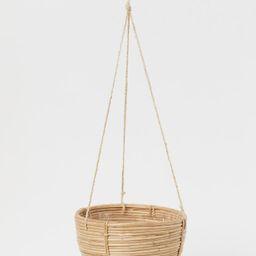 Large Rattan Hanging Basket | H&M (US)