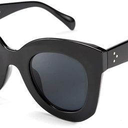 FEISEDY Retro Oversized Square Horn Sunglasses Men Women Big Thick Bold Frame B2572 | Amazon (US)