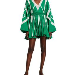 Cara Striped Mini A-line Dress | Neiman Marcus