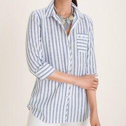 No-Iron FreshChic Linen Striped Shirt   Chico's