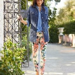 Tropical-Print Pull-On Ankle Jeggings   Chico's