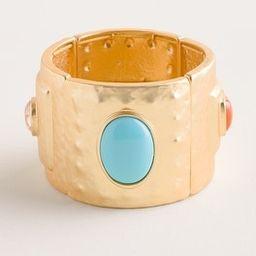 Multi-Stone Wide Cuff Stretch Bracelet | Chico's
