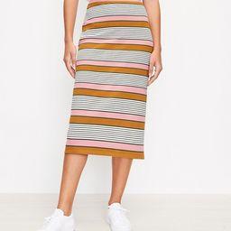 Striped Pull On Midi Skirt   LOFT   LOFT