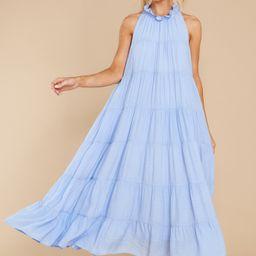Take Me Dancing Pale Blue Maxi Dress | Red Dress