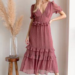 Know Your Heart Rose Pink Polka Dot Ruffled Midi Dress | Lulus (US)