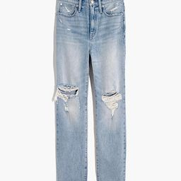 The Perfect Vintage Jean in Calabria Wash: Ripped Edition   Madewell