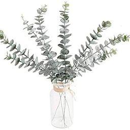 Atinart Eucalyptus Stems Real Touch 8pcs Faux Silver Dollar Leaves Artificial Eucalyptus Spray Br... | Amazon (US)