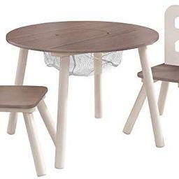 KidKraft Round Storage Table & 2 Chair Set - Gray (20025) | Amazon (US)