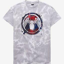 Marvel Spider-Man Venom Symbiote Symbol Tie-Dye Women's T-Shirt - BoxLunch Exclusive | BoxLunch