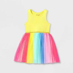 Toddler Girls' Colorblock Tulle Tank Dress - Cat & Jack™ Yellow | Target