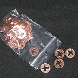 cross pennies, pennies with cross cut out, 50 pennies per bag, a special coin   Amazon (US)