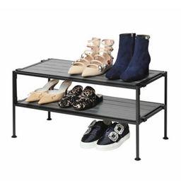 Seville Classics 2-Tier Iron Stackable Shoe Storage Rack | Bed Bath & Beyond | Bed Bath & Beyond
