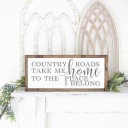 Country Roads Take Me Home Sign - John Denver Song Lyrics - Country Roads Sign - Country Decor - ... | Etsy (US)