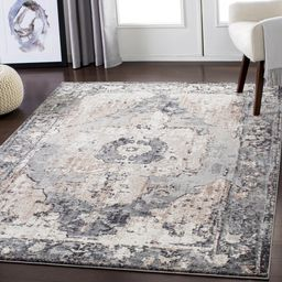 Ebenezer Oriental Charcoal Area Rug | Wayfair Professional