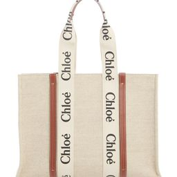 Large Woody Logo Strap Canvas Tote | Nordstrom