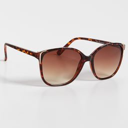 Oversized Cat Eye Sunglasses With Metal Detail | Maurices