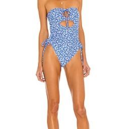 Tularosa Dilara One Piece in Blue Ditsy Blossom from Revolve.com | Revolve Clothing (Global)