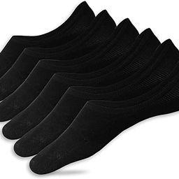 Eedor Women's 3/6/8 Pairs Thin No Show Socks Non Slip Flat Boat Line   Amazon (US)