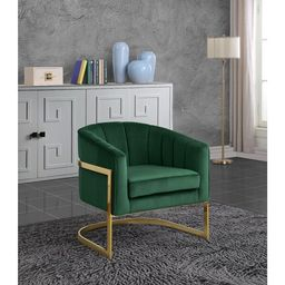 "Barnicle 31.5"" Wide Velvet Barrel Chair   Wayfair North America"