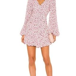 AFRM Monna Dress in Blush Pink Ditsy from Revolve.com | Revolve Clothing (Global)