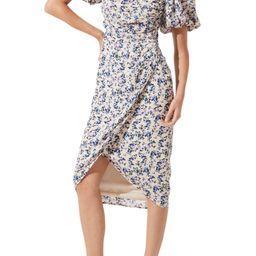 Square Neck Bubble Sleeve Dress | Nordstrom