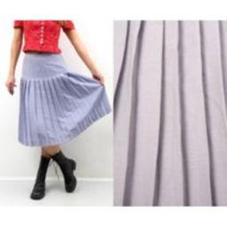 Vintage Pleated Skirt/Light Purple Lavender High Waist Midi Accordion Large Bohemian Boho L   Etsy (US)