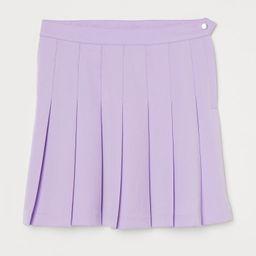 H & M - Pleated Skirt - Purple   H&M (US)