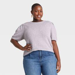 Women's Plus Size Crewneck Pullover Sweater - Universal Thread Lilac 1X, Purple   Target