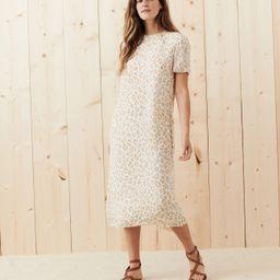 Silk Midi Dress - Snow Leopard   Jenni Kayne   Jenni Kayne