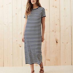 Striped Merino T-Shirt Dress - Navy Stripe   Jenni Kayne   Jenni Kayne