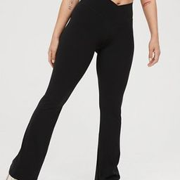 OFFLINE Real Me High Waisted Crossover Flare Legging | American Eagle Outfitters (US & CA)
