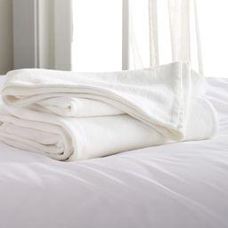 Siesta White Blanket | Crate and Barrel | Crate & Barrel