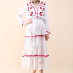 Stay Romance Embroidered Maxi Dress   Chicwish
