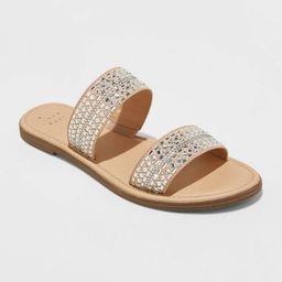 Women's Kersha Embellished Slide Sandals - A New Day™   Target