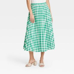 Women's Midi Pleated A-Line Skirt - A New Day™   Target