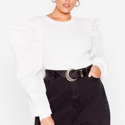 Don't Puff Sleeve Me This Way Plus Knit Sweater   NastyGal