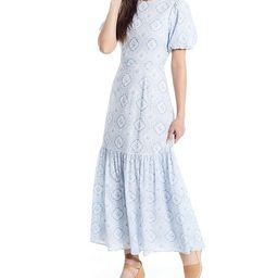 x Born on Fifth Belmondo Puff Sleeve Tile Print Ankle Length Dress   Dillards