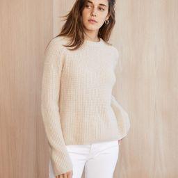 Cashmere Fisherman Sweater - Oatmeal | Jenni Kayne | Jenni Kayne