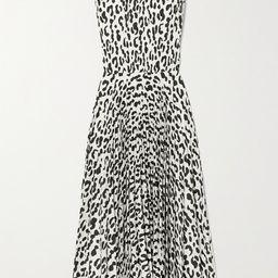 Jason Wu Collection - Pleated Leopard-print Stretch-crepe Midi Dress - White | Net-a-Porter (US)