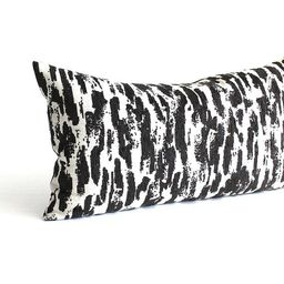 Lumbar Pillow Cover Black White Spotted Chenille Upholstery Oblong Throw Pillow Cover Decorative ...   Etsy (US)