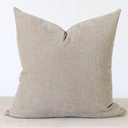 Taupe Velvet Pillow Cover, Grey Velvet Throw Pillow, Throw Pillow Covers 18x18, Pillow Covers 20x...   Etsy (US)